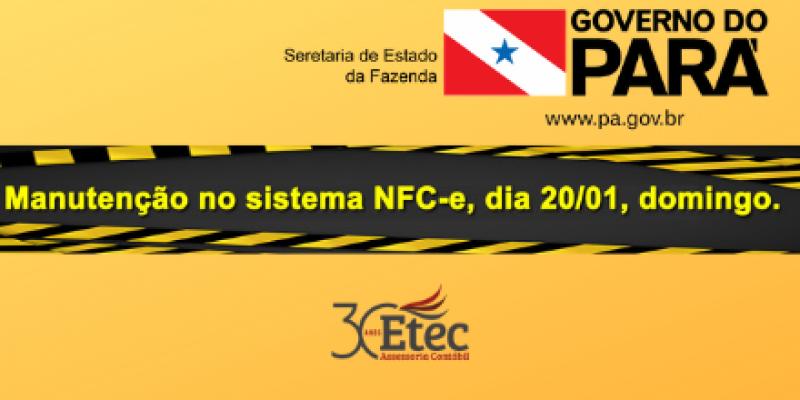 Parada ambiente NFC-e dia 20/01 - SEFA PA